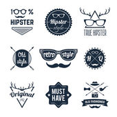 Hipster Label Set — Stock Vector