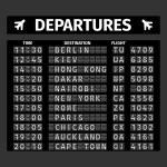Airport Departure Board — Stock Vector #64856311