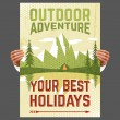 Outdoor adventure tourism poster — Stock Vector #64857259