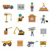 Construction Icon Flat — Stock Vector