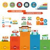 Store Building Infographics — Stock Vector