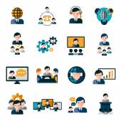 Business Meeting Icons — Stock Vector