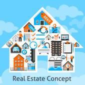 Real Estate Concept — Stock Vector