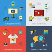 Reklamní sada izolovaných — Stock vektor