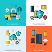 Data Protection Set — Stock Vector