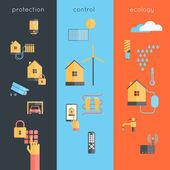 Smart Home Banner — Stock Vector
