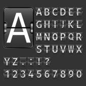 Airport Board Alphabet — Stock Vector