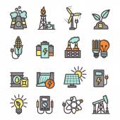Energy Icons Set — Stock Vector