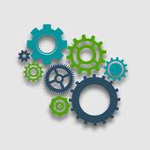 Cog Wheel Illustration — Stock Vector