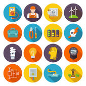 Electricity Icon Flat — Stock Vector