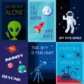Space Poster Set — Stock Vector