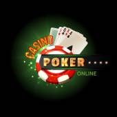 Casino poker online poster — Stock Vector