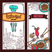 Restaurant menu food banners set — Stock Vector