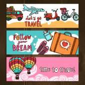 Travel Banners Set — ストックベクタ