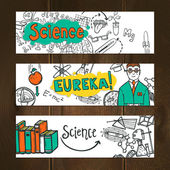 Science Banner Set — Stock Vector