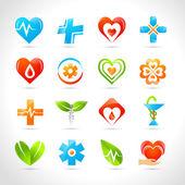 Medical Logo Icons — Stock Vector
