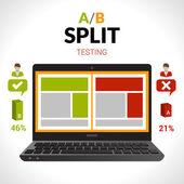 Split Testing Concept — Stock Vector