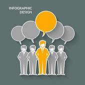 Teamwork Concept Illustration — Stock Vector
