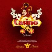 Casino Poster Illlustration — Stockvector
