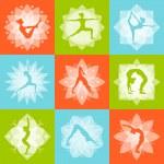 Yoga Design Concept — Stock Vector #66913085