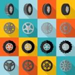 Tire Icon Flat — Stock Vector #66913309