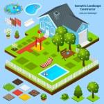 Landscape Design Isometric — Stock Vector #66913403