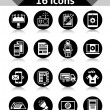 Advertising Icons Black — Stock Vector #66913557