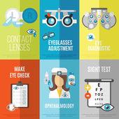 Oculist mini poster set — Stock Vector