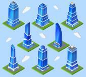 オフィス業界の計画要素 — ストックベクタ