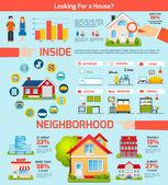 Building Infographics Set — Stockvektor