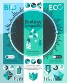 Ökologie-Infografiken-Satz — Stockvektor