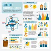 Election Icon Infographic — Stock Vector