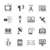 Conjunto de ícones de mídias — Vetor de Stock