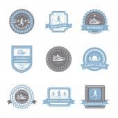 Jogging Label Set — Stock Vector