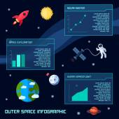 Space Infographic Set — Stock Vector