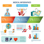 Medical Infographics Set — Stock Vector