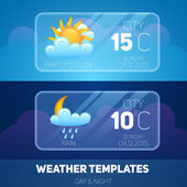 Weather Mobile Application — Stock Vector