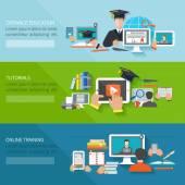 Online Education Banner — Stock Vector