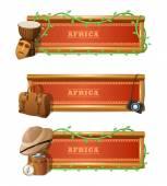 African Banner Set — Stock Vector