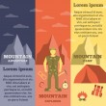 Mountain climber equipment banners set — Stock Vector #68188883