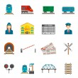Railway Icons Set — Stok Vektör #68188985