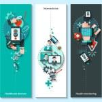 Digital Medicine Banners Vertical — Stock Vector #68189579
