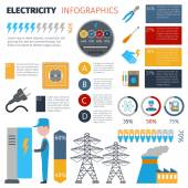 Electricity Infographics Set — Stock Vector