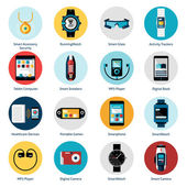 Wearable Technology Icons — Stock Vector