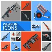 Zestaw ikon broń — Wektor stockowy