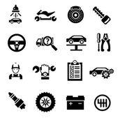Car Repair Icons Black — Wektor stockowy