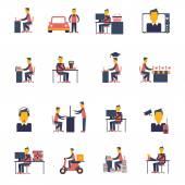 Sedentary Icon Flat — Stock Vector