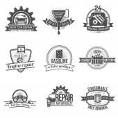 Auto Service Emblem — Stock Vector