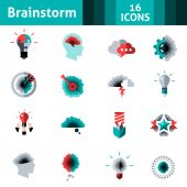 Brainstorm Icons Set — Stock Vector