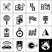 Navigation Icons Black — Stock Vector